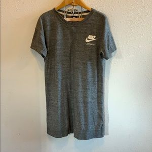 NWOT Grey Nike Casual T-Shirt Dress